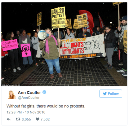 image 1: A Tweet from Ann Coulter