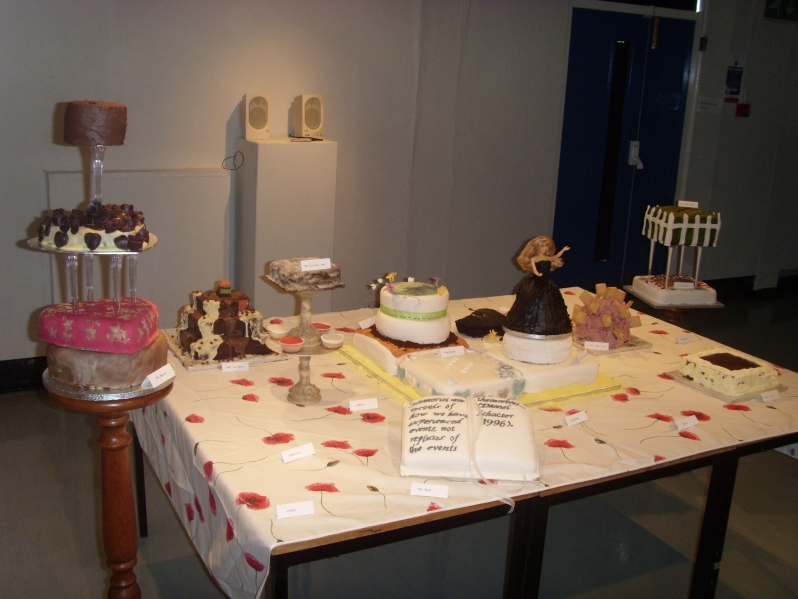 "Fig. 6. Image: Anonymous Audience Member. Performer: Jenny Lawson. ""Cake Sculpture"".  If I knew you were coming, I'd have baked a cake. 2009."